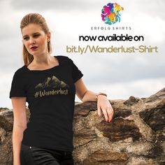 Wanderlust t-shirt for women loving traveling Wanderlust t-shirt woman. You love traveling or want to do a worldtrip. You like posting on social media, that shirt is ideal for you. Wanderlust t-shirt woman. Show your friends your passion for traveling and wandering Amazon Merch, Positive Messages, Wanderlust Travel, Branded T Shirts, Passion, Social Media, T Shirts For Women, Scouts, Traveling