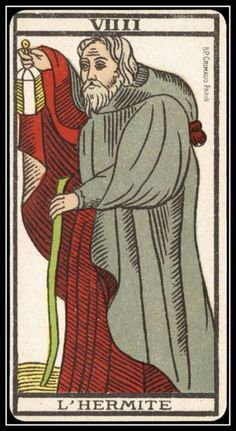 "the-rx: "" L'Hermit Original Article "" Hermann Hesse, The Hermit Tarot, Vintage Tarot Cards, Epic Of Gilgamesh, Occult Art, Major Arcana, Oracle Cards, Tarot Decks, Archetypes"