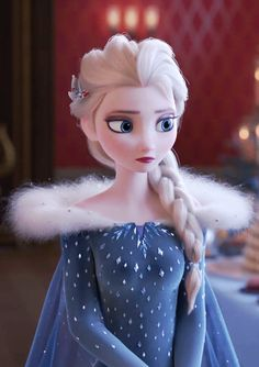 """""""when they gave Elsa a new outfit and it looks similar to Jack Frost's blue frosty hoodie. Frozen Disney, Princesa Disney Frozen, Olaf Frozen, Cute Disney, Disney Art, Walt Disney, Disney Princess Pictures, Disney Pictures, Frozen Wallpaper"""