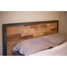 Robb! Idea for the blank headboard and use those extra wood flooring planks!
