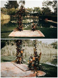 Hayley Country Wedding Flowers, Fall Wedding Bouquets, Autumn Wedding, Wedding Ceremony Arch, Outdoor Ceremony, Eclectic Wedding, Bohemian Wedding Inspiration, California Wedding, Real Weddings