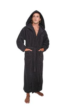 e55fe48b07 Extra Off Coupon So Cheap Hooded Bathrobe Mens Turkish Cotton Terry Spa Robe  With Hood