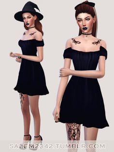 Cap Sleeve Shift Dress at Salem2342 via Sims 4 Updates