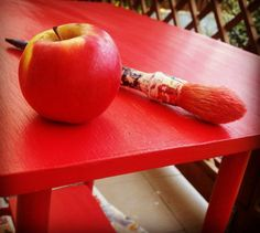 An apple a day keeps the doctor away! So does repainting furniture!