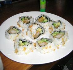 Home Made Sushi Crunch Rolls