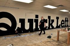 Quick Left Logotype Mural. Specs:  –   44 x 7 ft –   5,868pt Lubalin Bold –   1 frame / 10 seconds –   5,760 frames   Shot & edited by Sam C...