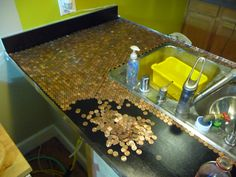 Install a Penny Countertop
