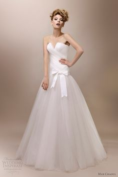 max chaoul wedding dresses 2013 elizabeth strapless gown