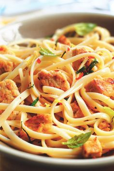 Get inspired and try this delicious Chicken, Lemon and Chilli Linguine Recipe, using Quorn Meatless Chicken Tenders. Enjoy meatless alternatives with Quorn. Quorn Recipes, Pureed Food Recipes, Vegetable Recipes, Vegetarian Recipes, Cooking Recipes, Healthy Recipes, Healthy Dinners, Meatless Chicken, Quorn Chicken