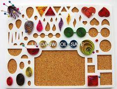 Aliexpress.com: Comprar Lo nuevo origami de papel tarjeta de plantilla, arte de papel workboard, papel Quilling herramienta, fuentes del arte de DIY de del cable de alimentación fiable proveedores en Linda Wholesale International Co.,Ltd