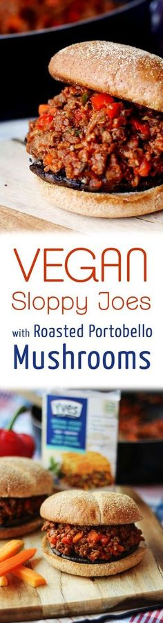 These vegan Sloppy Joes with Roasted Portobello Mushrooms are a healthy alternative to everyone�s favourite childhood comfort food.