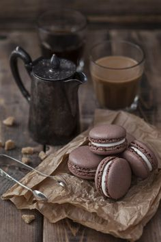 Makronen und Kaffee