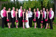 Hot Pink Black White Wedding Almost Exactly What I Think Want