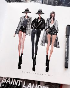 fashion sketchbook Kunst, Zeichnung und M - fashion Fashion Sketchbook, Fashion Illustration Sketches, Illustration Mode, Fashion Sketches, Fashion Design Illustrations, Medical Illustration, Trendy Fashion, Fashion Art, Fashion Models