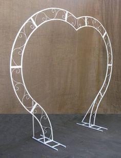 Wedding arch Heart, Heart shaped wedding arch, White metal w… – Flower Ideas Metal Wedding Arch, Metal Arch, Wedding Stage Decorations, Wedding Ceremony Backdrop, Decor Wedding, Wedding Table, Wedding Ceremonies, Outdoor Ceremony, Wedding Cards