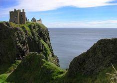 """Dunnottar Castle (Scottish Gaelic: Dùn Fhoithear, """"fort on the shelving slope""""), Scotland"""