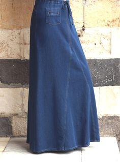 SHUKR USA | Denim Huyam Skirt