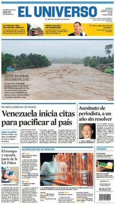 Portada de #DiarioELUNIVERSO del viernes 11 de abril del 2014. Las #noticias de #Ecuador y el mundo en: www.eluniverso.com