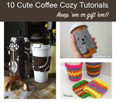10 DIY Coffee Cozies for You or for Gifts
