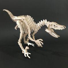10$ Raptor Skeleton 3D Puzzle with assembly guide by Unnote Cardboard 3d Puzzles, Skeleton, Lion Sculpture, Statue, Art, Craft Art, Kunst, Skeletons, Sculptures