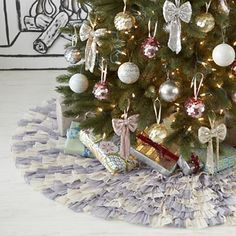 Scalloped Tree Skirt by The Land of Nod