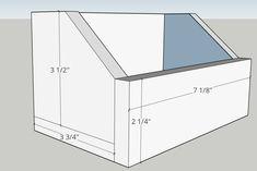 Workbench bins, screw storage, DIY storage bins, bolt bins, small parts bins Garage Tool Storage, Workshop Storage, Workshop Organization, Diy Workshop, Storage Bins, Diy Storage, Workbench Organization, Storage Ideas, Small Parts Storage