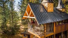 Dům si majitelé nechali postavit na svém pozemku v sousedství Národního parku Glacier v Montaně.