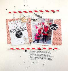 Trick Or Treat Layout by Danielle Flanders for Papertrey Ink (November 2014)