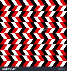 geometric pattern of black, white and red rectangle