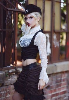 Steampunk Girls https://www.steampunkartifacts.com/collections/steampunk-glasses #steampunkfashion,