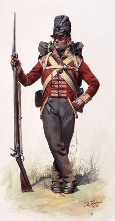 Padrões do passado: # 040: Revestimento de Napoleão era britânica Pé do soldado circa 1806-1820