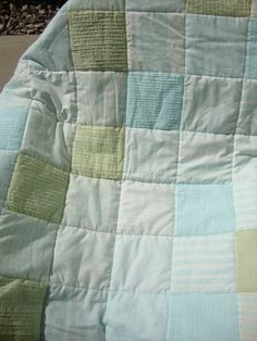 sea glass quilt on Etsy