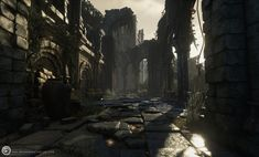 ArtStation - [UE4] Dark Souls III: Farron Keep Perimeter , Benjamin Roach
