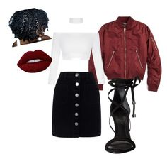 """""""Untitled #110"""" by kaibari on Polyvore featuring Topshop, Miss Selfridge, Schutz and Lime Crime"""