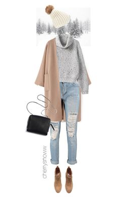 """Cool coat"" by cherrysnoww ❤ liked on Polyvore featuring Boohoo, H&M and Forever 21"