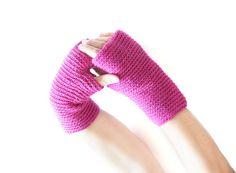 Orchid Crochet Fingerless gloves