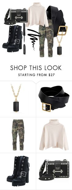"""Untitled #72"" by andzelika-niklewicz on Polyvore featuring David Yurman, Alexander McQueen, RE/DONE, Prada and Bobbi Brown Cosmetics"