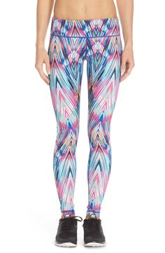 Always more fun heading to yoga in bright and colorful leggings.