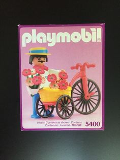 PLAYMOBIL 5400 FLOWER SELLER for 5300 Victorian Mansion Dollhouse NISB New BOX #PLAYMOBIL