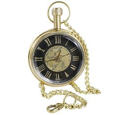 Antique Hollow Case Retro Roman Numerals Dial Mechanical Pocket Watch Brass Metal - 1.8 Inch RoyaltyLane http://www.amazon.com/dp/B01C6XPHP6/ref=cm_sw_r_pi_dp_T8N3wb0X3Q2MK
