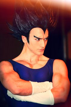 Vegeta - Dragon Ball Z Have you ever seen my Vegeta Cosplay? I don't have good picture of him so forgive me, it's very hard to do a Dragon B. Vegeta - Dragon Ball Z Cosplay by Leon Chiro Art Cosplay Diy, Halloween Cosplay, Cosplay Costumes, Anime Cosplay, Resident Evil, Dbz, Superman, Best Cosplay Ever, Dragon Ball Z Shirt