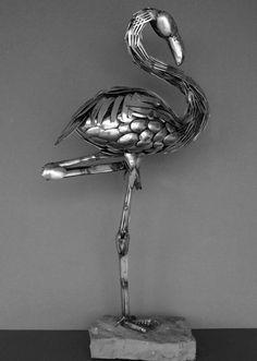 Animali di coltelli e forchette: le sculture di Gary Hovey