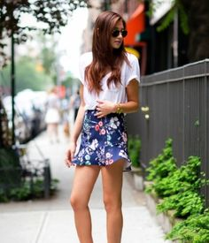 Summer floral design skirt! <3