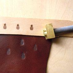 Custom Pineapple Heating Branding Iron Leather Stamp by artcarf