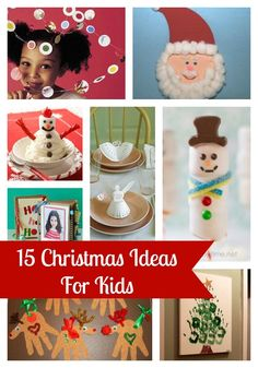 15 Christmas crafts for kids on iheartnaptime.com ...so many fun ideas!