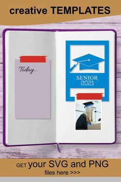 Awesome Graduation card templates! I love to use them not only for cardmaking, but in any digital journaling and scrapbooking projects ♥ #graduation #card #template #ideas #scrapbooking Layout Template, Card Templates, Digital Journal, Graduation Cards, Card Sizes, Cardmaking, Journaling, Scrapbooking, The Unit