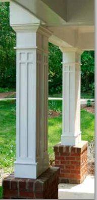 Porch post idea More