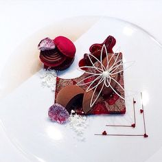 """The Art of Plating on Instagram: """"Chocolate and cherry by @fredrik_gustafsson #TheArtOfPlating"""""""