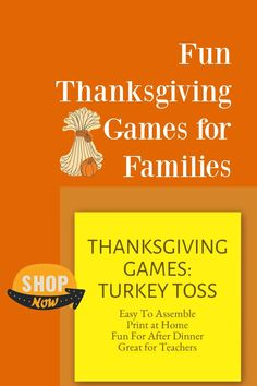 Fun Thanksgiving Games and Activities for Kids and Families / Thanksgiving Ideas