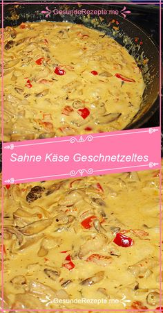 Cream Cheese Sliced that is addictive - INGREDIENTS: 500 g pork, (e. schnitzel or minute steaks) 2 small. Healthy Casserole Recipes, Crockpot Recipes, Chicken Recipes, Healthy Recipes, Holiday Recipes, Dinner Recipes, Healthy Ground Beef, Food Videos, Healthy Snacks